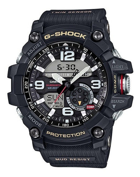 Relógio Casio G Shock Gg 1000-1dr Preto Mudmaster Peso 94g