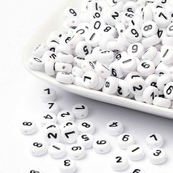 Números Abalorios Tipo Luneta Realizar Pulseras Letras