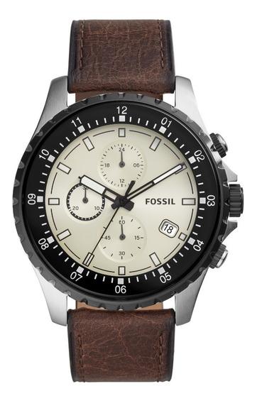 Relógio Fossil Masculino Couro Marrom Fs5674/0kn