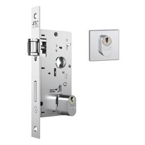 Fechadura Rolete Stam 803 Porta Pivotante Quadrada Cromada