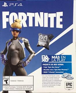 Código Fornite Epic Neo Versa(+2000 V-bucks) Exclusivo Ps4