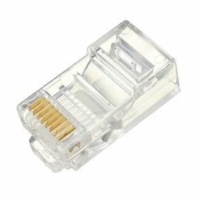 Conector Rj45 (macho) (cat.5e) (8x8) (100 Un) (chip Sce)