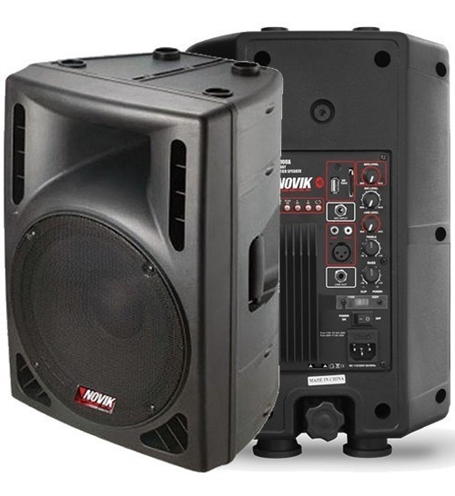 Caixa De Som Amplificada Novik Ativa 100w 2 Mixer Evo100a