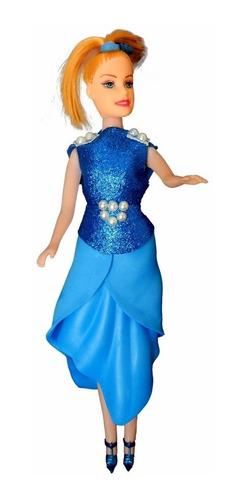 Imagem 1 de 1 de Donna - Azul Com Glitter - Bonecas Artesan