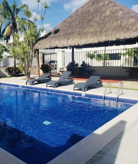 Casa Amueblada Playa Del Carmen 3 Recámaras Con Alberca