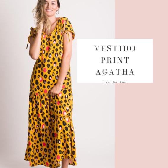 Vestido Print Largo Mujer