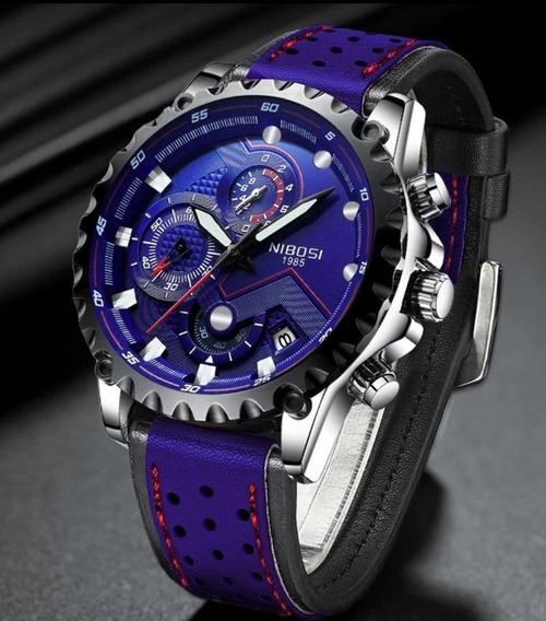 Relógio Nibosi Mens Top Marca De Luxo