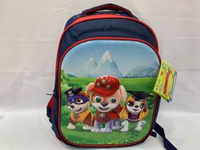 Mochila Infantil Escolar Costas G Patrulha Canina 3d Azul E