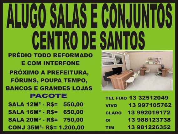 Alugo Salas E Conjunto Comercial No Centro De Santos