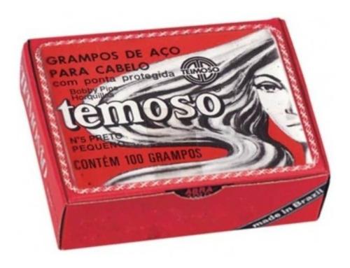 Imagem 1 de 1 de Teimoso Grampo N°5 Preto C/100