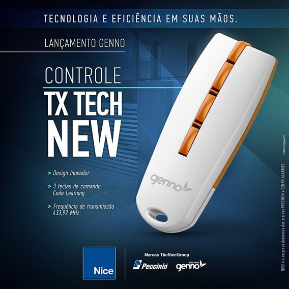 Controle Remoto Motor Portão Eletrônico 433mhz Tx-tech New