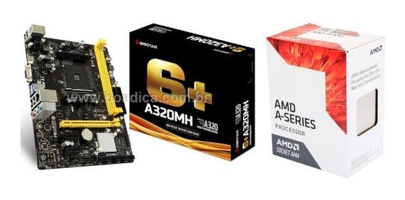 Kit Gamer Biostar A320mh Pro Am4 + Processador A10 9700 Amd
