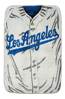 Manta Mlb Jersey Los Angeles Dodgers Felpa Raschel Oficial
