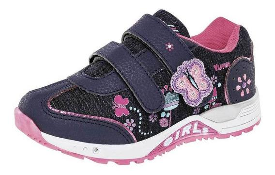 Tenis Yuyin Niña 27240 Color Marino Talla 18-21 -shoes