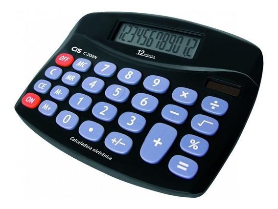 Calculadora Eletronica 12 Digitos C-206n Cis