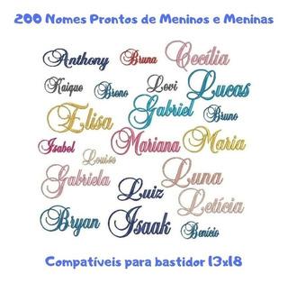 Matriz Bordado 200 Nomes Prontos Meninos E Meninas (002)