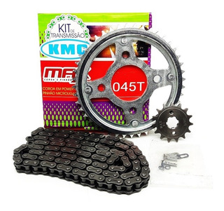 Kit Relação Transmissão Titan Fan Start 160 Kmc C/ret 1045