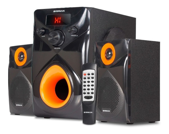 Caixa De Som 50w Home Theater 2.1 Bluetooth Fm Usb Subwoofer