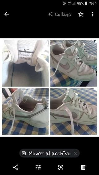 Zapatilla Nike Air Froce Mujer Color Beige Poco Uso
