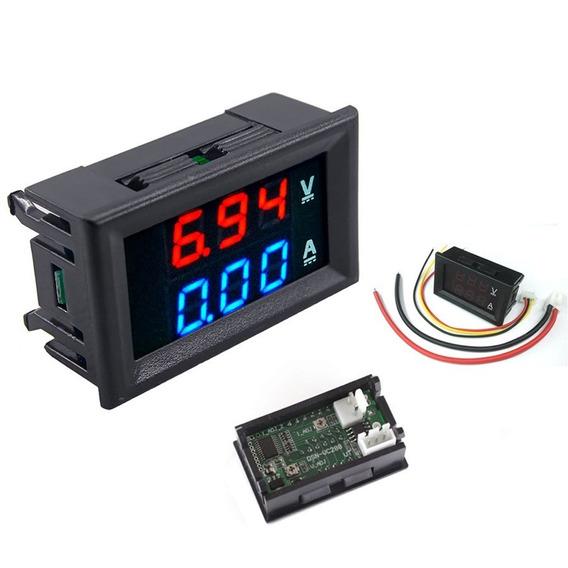5 X Voltímetro Amperímetro Digital Dc 0-100v 10a