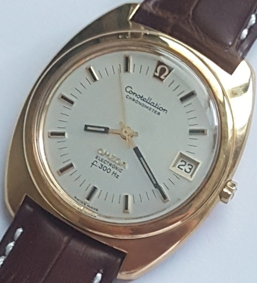 Omega Constellation F300 Hz Chronometer Em Ouro Maciço