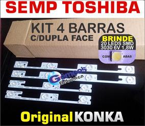 Kit 4 Barra Led 32l2400 Dl3244 Dl3245i Dl3253 Leia Descrição