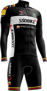 Conjunto Ciclismo Sódbike Pro - Camisa Longa E Bermuda