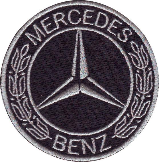 Mercedes Benz Gris Carros Parches Bordados 7.5 Cm P/ Coser