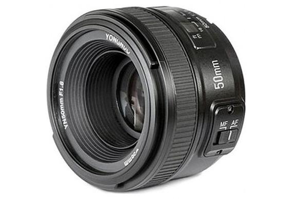 Lente Yongnuo Ef 50mm F1.8 Para Canon Com Motor De Auto Foco Na Lente Para Cameras Sem Este Dispositivo Acoplado Novo...