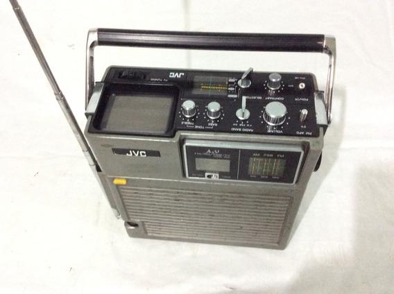 - Rádio Com Tv Portátil Jvc - 70s