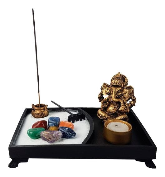 Jardim Zen Ganesha Castical Porta Vela Nirvana Yoga Resina