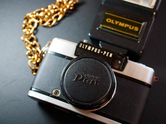 Câmera (revisada) Olympus Pen Ees-2 + Acessórios