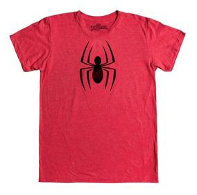 Playera Mascara De Latex Spider-man Hombre Araña Logo