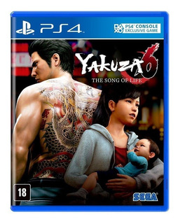 Jogo Yakuza 6 The Song Of Life Ps4 Mídia Física Lacrado