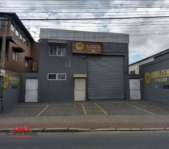 Galpão Para Alugar, 200 M² Por R$ 3.200/mês - Jardim Vale Do Sol - São José Dos Campos/sp - Ga0026