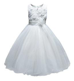 Vestido Blanco Talla 12/18 Meses - Bazar Amanda