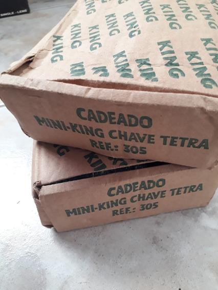 Kit 2 Fechadura Cadeado Trava Para Porta De Aço King Tetra