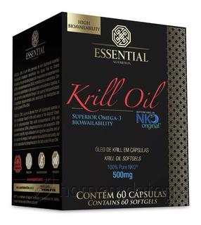 Krill Oil 500mg - Óleo Krill (60 Caps) - Essential Nutrition