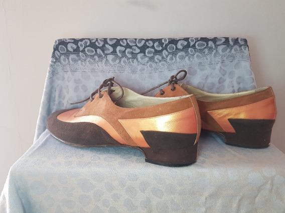 Zapatos Mocasines Taco Bajo 38 (usado)