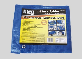 Lona Polietileno Multiusos Azul 4.88 X 6.10m Kley