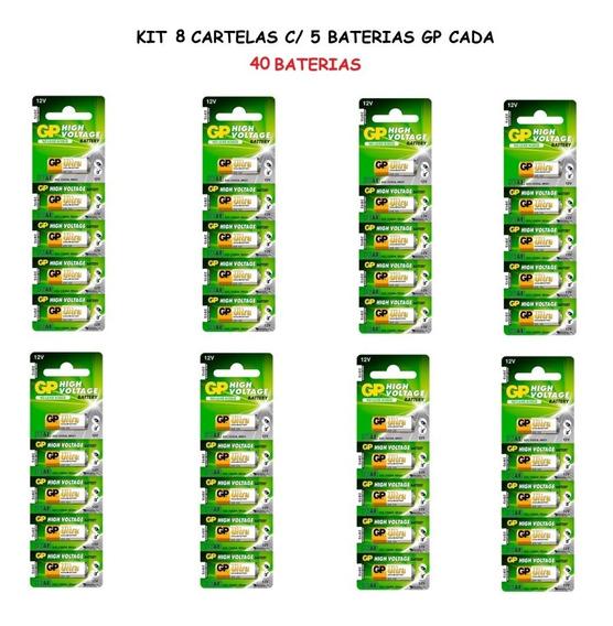 8 Cartelas: 40 Baterias Gp Ultra High Voltage Alcalina 23a
