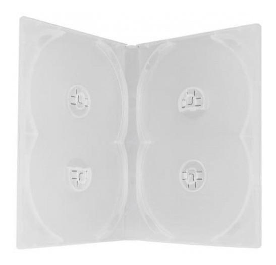 10 Capas Estojos Box Transparentes Quadruplas Para Dvd