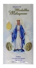 Livro Novena Nossa Senhora Medalha Milagrosa + Medalha