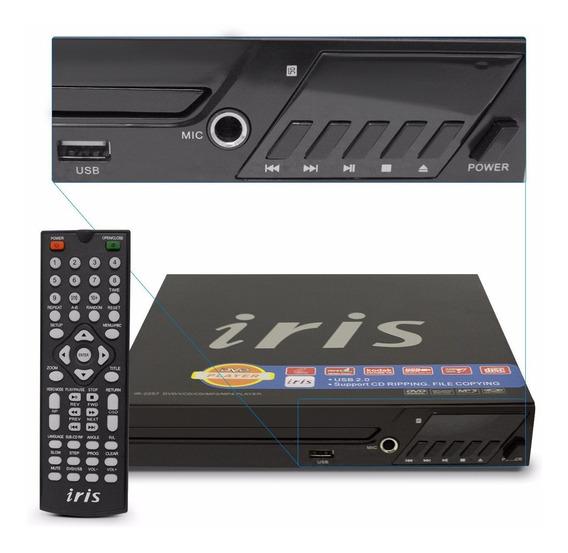 Dvd Player Iris Ir-2257 Com Karaokê, Entrada Usb E Ripping