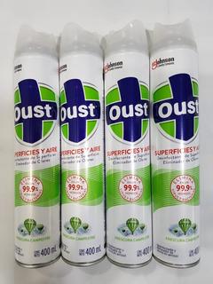 Desinfectante Oust 400 Ml Mata 99.9% Virus Pack 4 Piezas