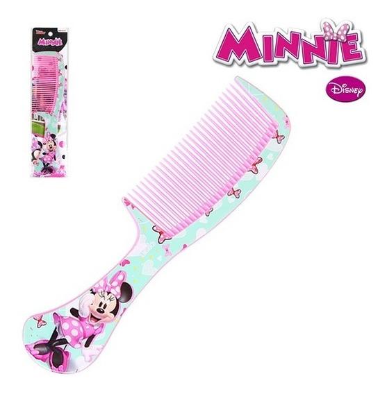 Pente De Plastico Infantil Rosa / Verde 21,5cm Minnie