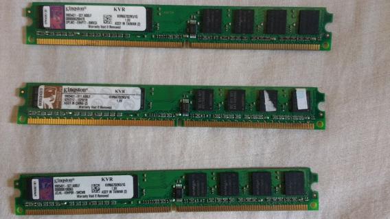 Memoria Ddr2 1+1+1 3gb 667mhz Kingston Trio Desktop