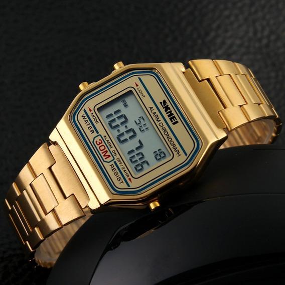 Relógio Skmei Vintage Padrão Casio