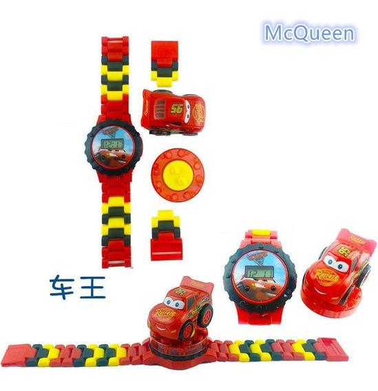 Reloj Cars Tipo Lego Con Mini Figura Sin Caja/empaque