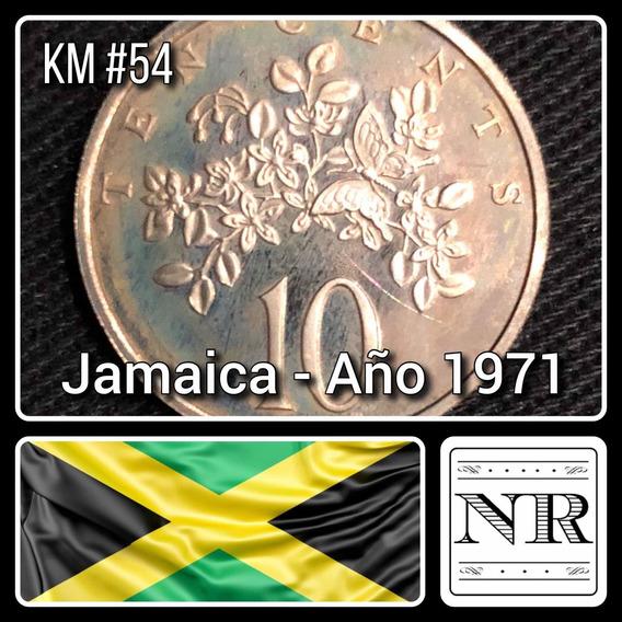 Jamaica - 10 Cents - Año 1971 - Km # 54 - Flores